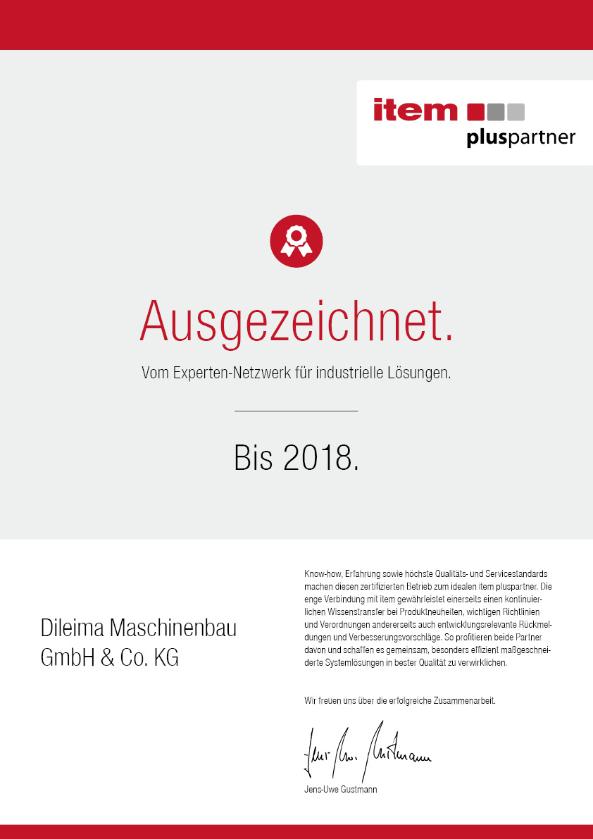 item - Plus Partner zertifiziert